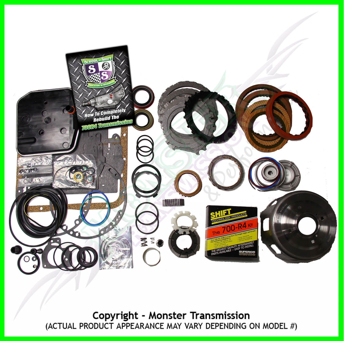 700R4 Mega Monster Transmission Complete Rebuild Kit: 1987-93