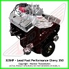 Lead Foot Performance - 350 Chevy Engine Complete 4 Bolt Main - Rated at 325 Hp / 375 Ft Lbs & FREE Shipping