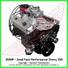 Lead Foot Performance - 350 Chevy Engine Complete 4 Bolt Main - Rated at 350 Hp / 400 Ft Lbs & FREE Shipping