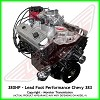 Lead Foot Performance - 383 Stroker Chevy Engine Complete 4 Bolt Main - Rated at 380 Hp / 460 Ft Lbs & FREE Shipping
