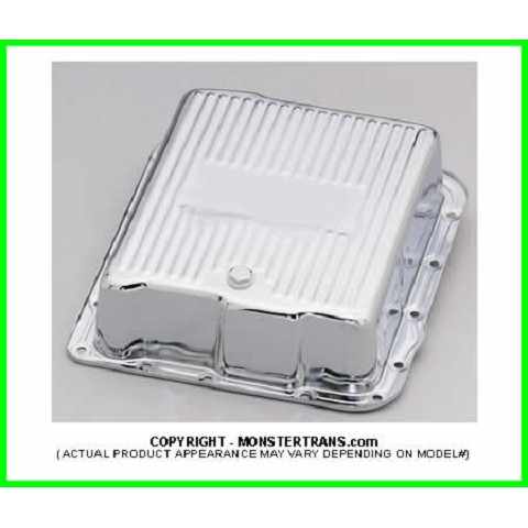 700R4, 4L60, 4L60E Chrome Transmission Pan, Deep