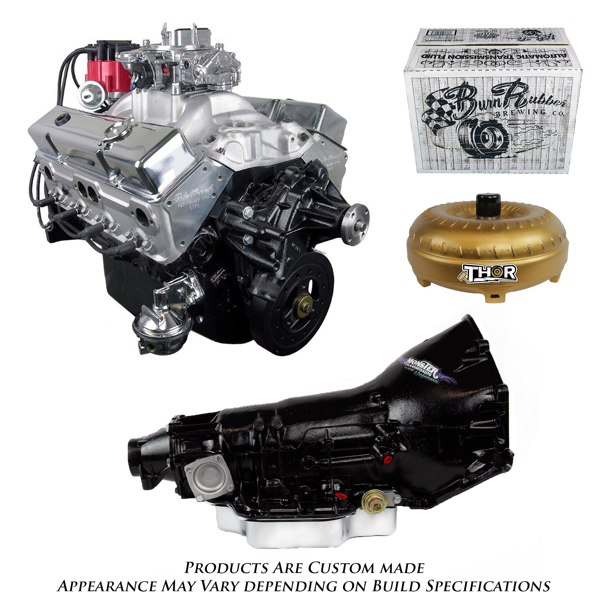 Chevy 350 Engine With Transmission For Sale: Monster Powertrain Package, Chevy 350 Engine And TH400