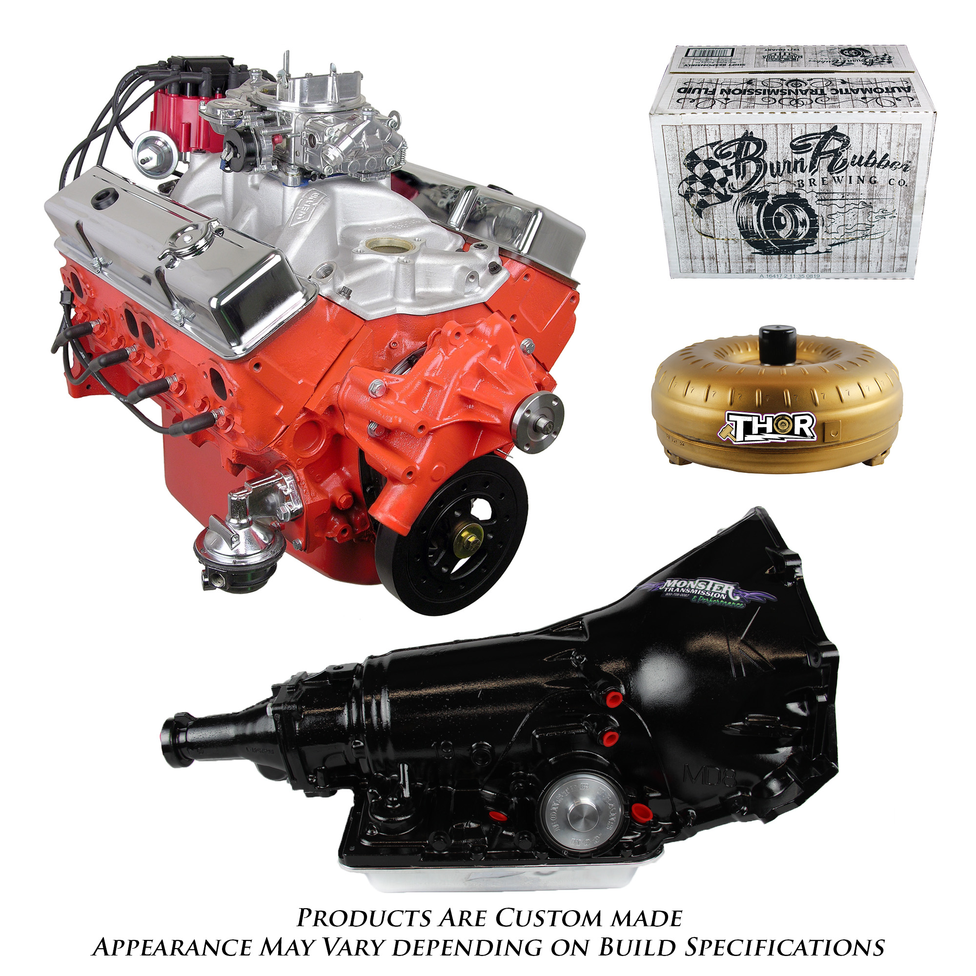 Monster Powertrain Package Chevy 350 Engine And 700R4 Transmission