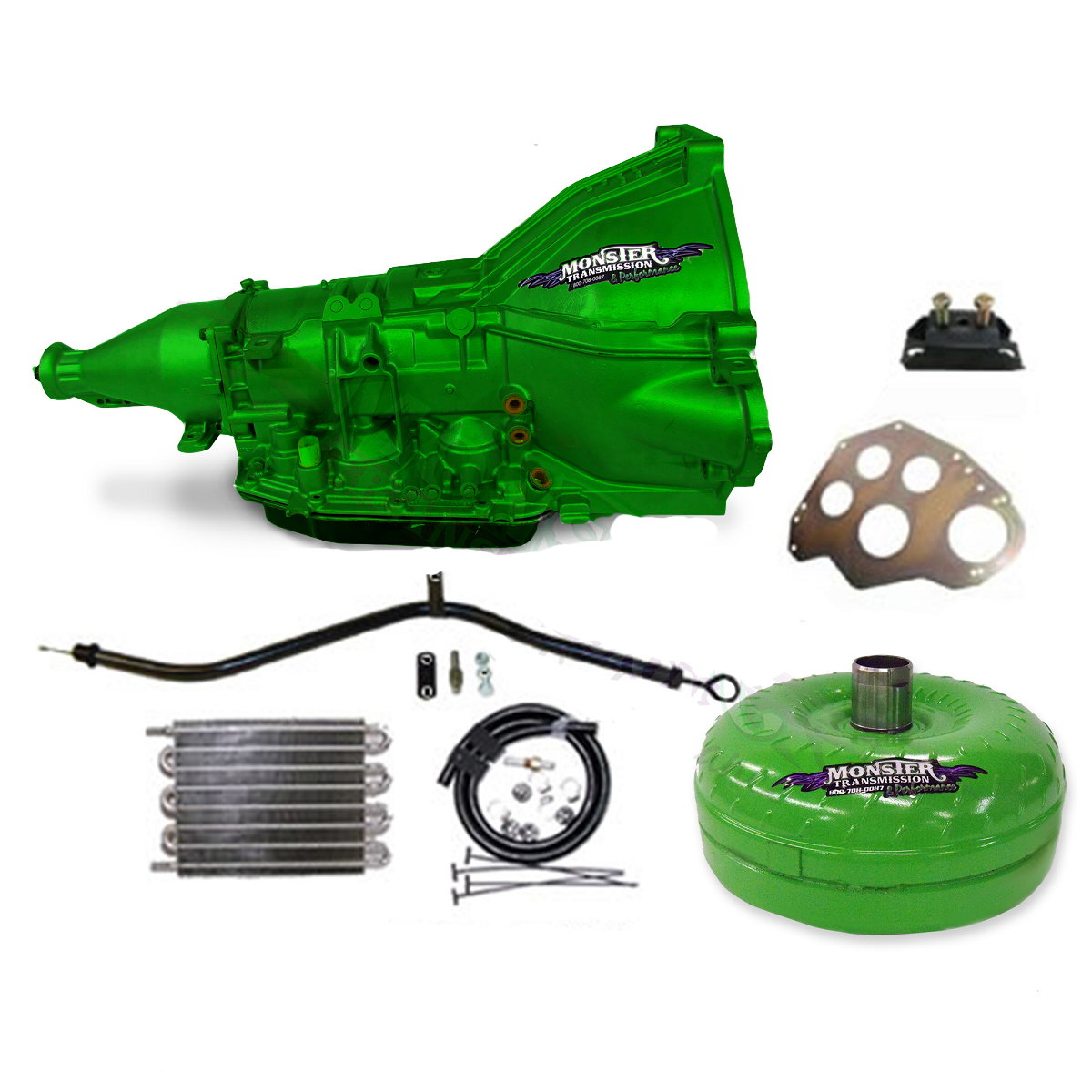 Ford Aod Ss Monster Transmission Master Conversion Package 2wd Green Other Colors Available Color Shades May Vary