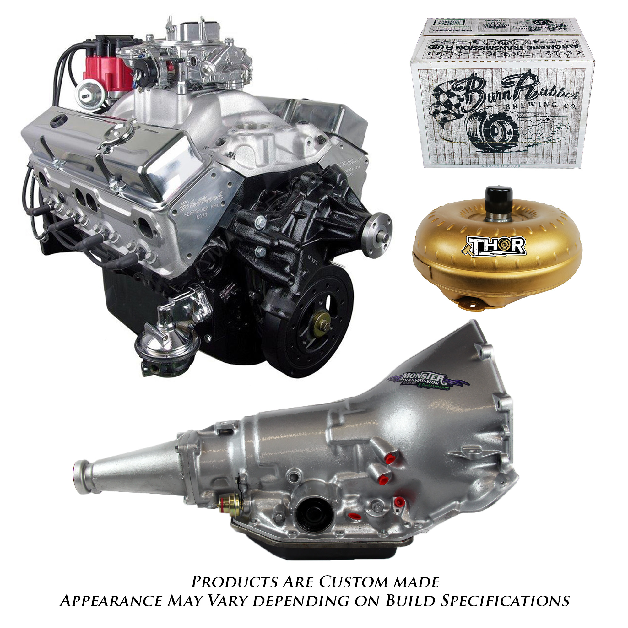 350 Chevy Engine Kit: Monster Powertrain Package, Chevy 350 Engine And TH350