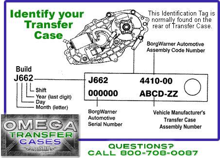 borg warner transfercase id tagJ1 ford bw 4406 borg warner transfer case