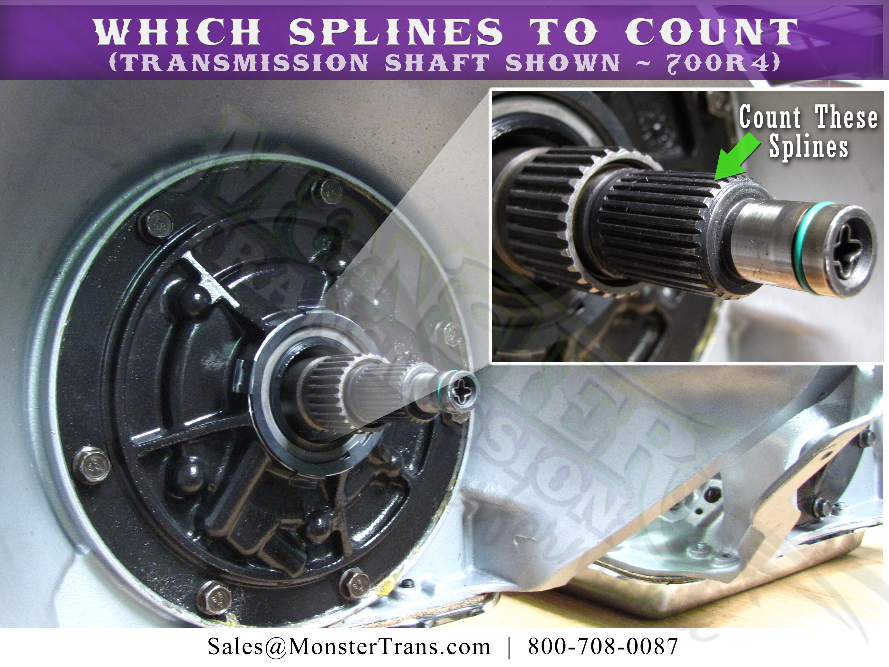 How to Count the Transmission Shaft Splines on a 700R4