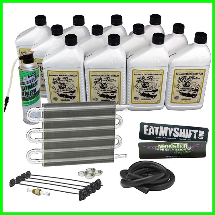 Monster Transmission Cooling Package, Cooler, 12 Qts Fluid, Trans Flush,  Decals