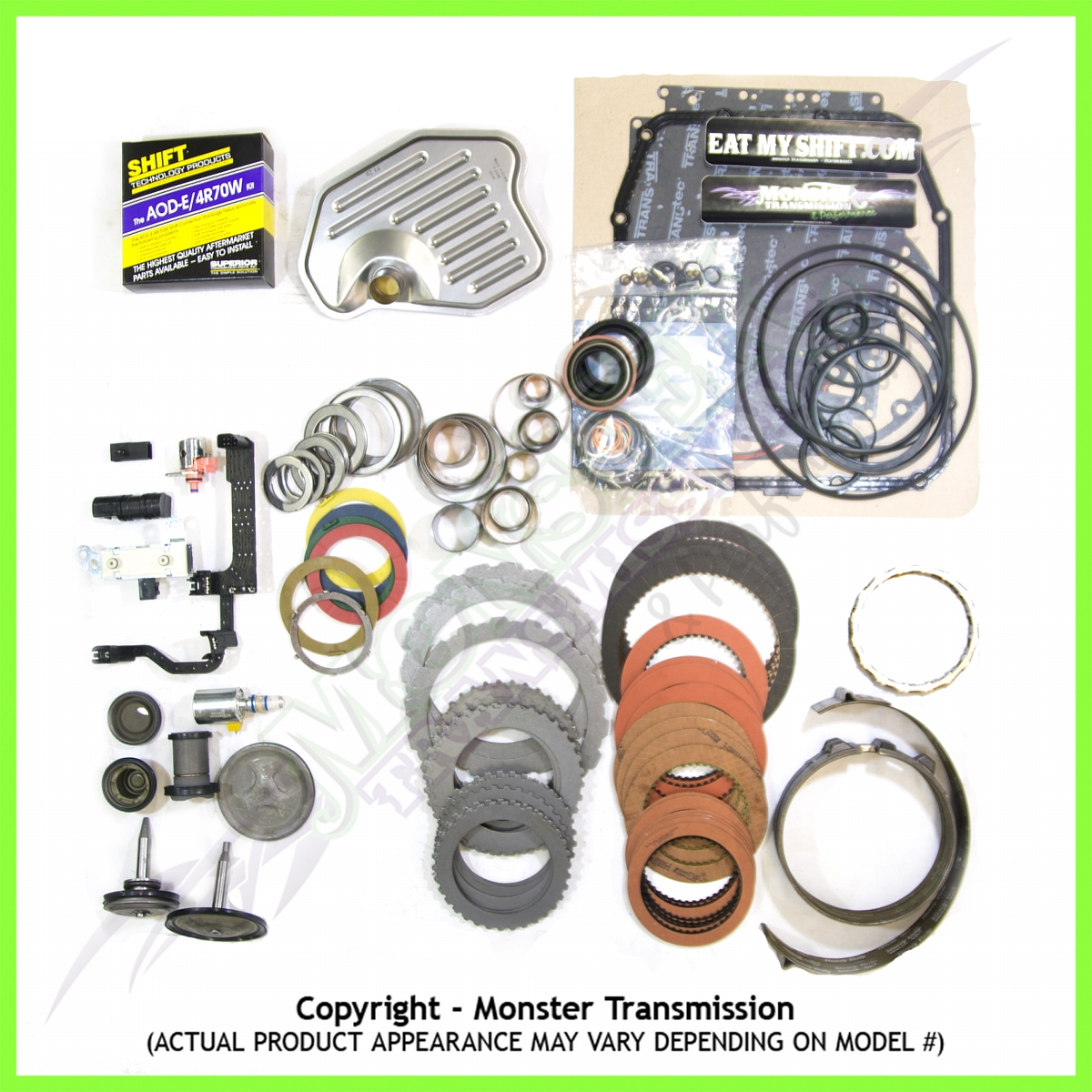4r70w Mega Monster Transmission Complete Rebuild Kit 1998 03 4r100 Wiring Harness Clip