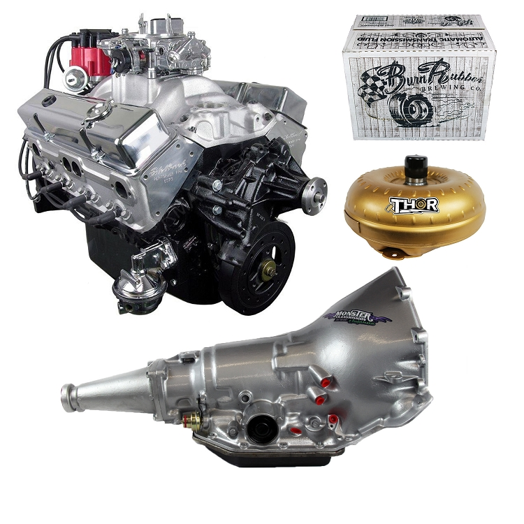 Engine And Transmission >> Monster Powertrain Package Chevy 350 Engine Rated At 375hp 400tq With Th350 Transmission