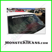 MonsterTrans.com Windshield White Vinyl Decal