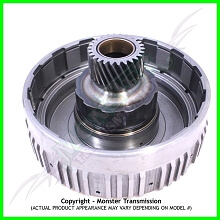 4L80 / 4L80E / 4L85E Drum, Overrun Clutch w/ Sun Gear (Uses 34650 Roller Clutch) (Can use 34551AK) (91-E01)
