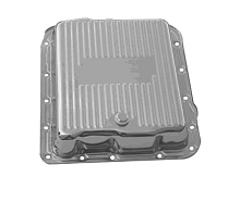 700R4, 4L60, 4L60E Chrome Transmission Pan, Stock Depth