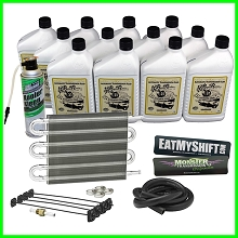 Monster Transmission Cooling Package, Cooler, 12 Qts Fluid, Trans Flush, Decals