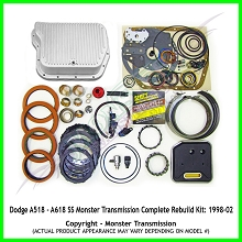 Dodge A618/48RE SS Monster Transmission Complete Rebuild Kit: 2003-Up