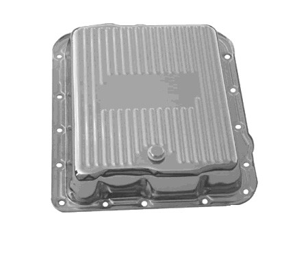 700R4, 4L60, 4L60E Polished Aluminum Transmission Pan, Stock Depth