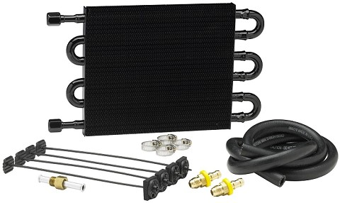 "Hayden Transmission Cooler Kit: 15 1/2"" x 5"" x 3/4"""