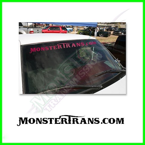MonsterTrans.com Windshield Pink Vinyl Decal
